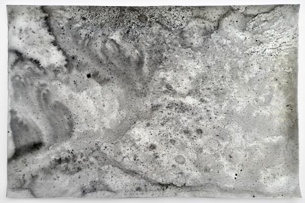 010_Ohne Titel (Raunacht 28), Acryl auf Papier, 70 x 100 cm, 2017