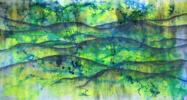 02_Das Meer aller Möglichkeiten, Acryl und Graphit auf Leinwand, ca. 400 x 210 cm, 2018_web