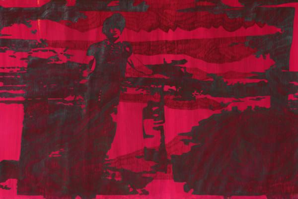 02_Zeichnung_OhneTitel(3) aus Song of me I, Graphit auf Acryl auf Papier, 100 x 150 cm, 2008_