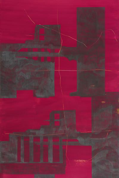 03_Zeichnung_OhneTitel(Pompeji) aus Song of me I, Graphit auf Acryl auf Papier, 100 x 150 cm, 2008_