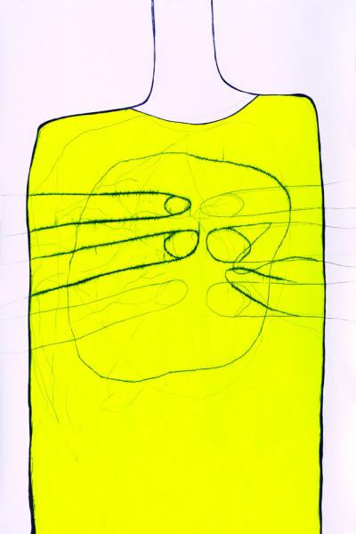 11_Zeichnung_Ohne Titel_Graphit und Buntstift auf Papier_150x100 cm_2007_