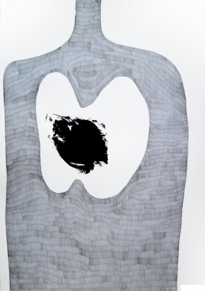 OhneTitel (Schatten I)_Graphit und Acryl auf Papier_70x100cm_2010