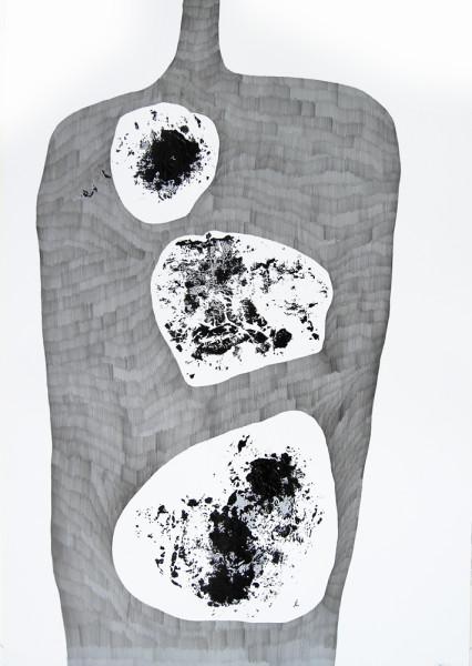 OhneTitel (Schatten II)_Graphit und Acryl auf Papier_70x100cm_2010
