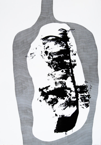 OhneTitel (Schatten III)_Graphit und Acryl auf Papier_70x100cm_2010