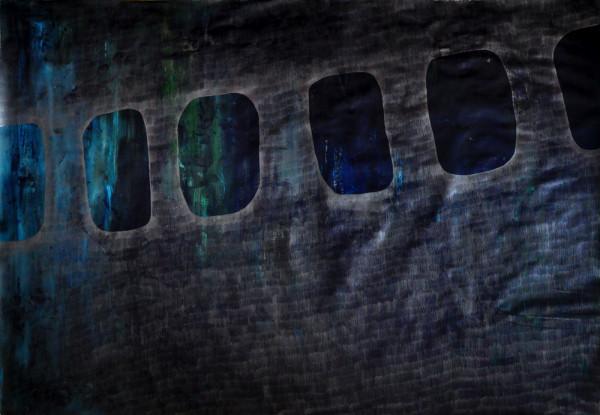 20_Ohne Titel (Airplane), 150 x 220 cm, Graphit und Acryl auf Papier, 2012