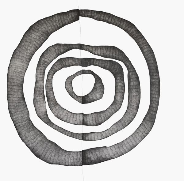23_Zeichnung_Ohne Titel (Mitte)_Graphit auf Leinwand_210x205cm_2011_