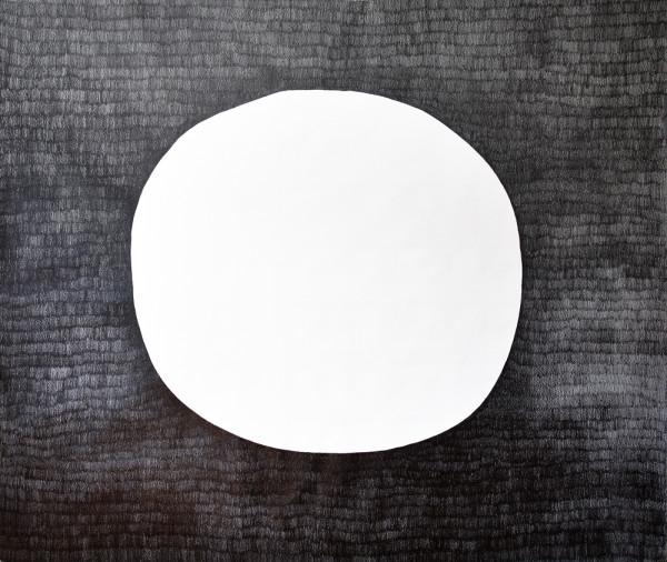 26_Zeichnung_Ohne Titel (Kreis negativ) _Graphit auf Leinwand_220x180cm_2010_